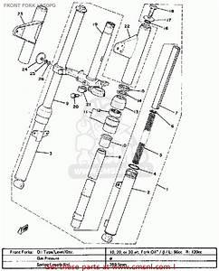 Yamaha Lb50pg Chappy 1980-1982 Front Fork Lb50pg