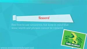 Secrets Of Rephrasing Sentences Online