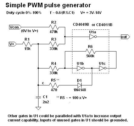 Pwm Pulse Generator Electronics Forum Circuits