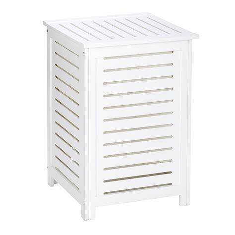 table de cuisine amovible corbeille à linge en bois olso blanc 21857100 achat