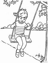 Coloring Swing Colorir Swings Desenhos Playground Porch Ferias Clipart Sketch Escolares Imagens Template Pintar Imprimir sketch template