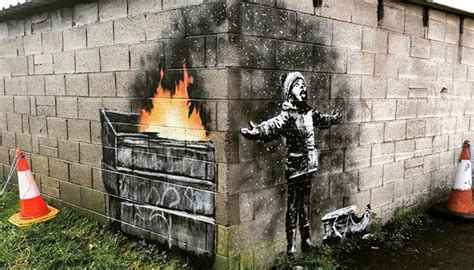 banksy gifts welsh steel town  white christmas attraction