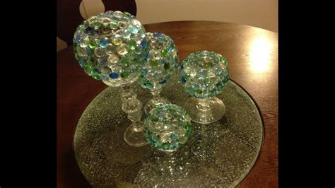 diy glass beads candle vases goodwill dollar tree