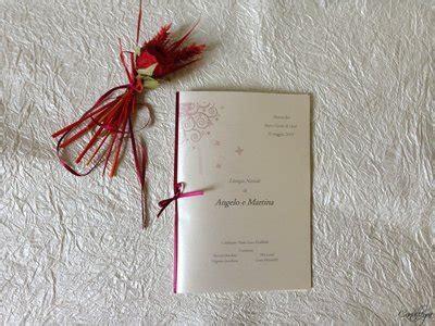 libretto  messa degli sposi  carta perlata  nastro