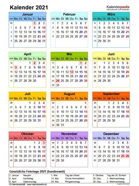Wie jedes jahr bieten wir ihnen an dieser stelle an, unsere ferienkalender 2021 zum ausdrucken mit ferien, kostenlos herunterzuladen. Kalenderpedia Pdf Jahreskalender 2021 Zum Ausdrucken ...