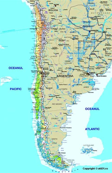 map  chile maps worl atlas chile map  maps