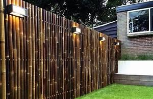 34 ideen fur sichtschutz im garten mit bambus for Französischer balkon mit gartenzaun bambus