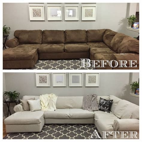 Sofa With Chaise Slipcover Custom Made Slipcovers For