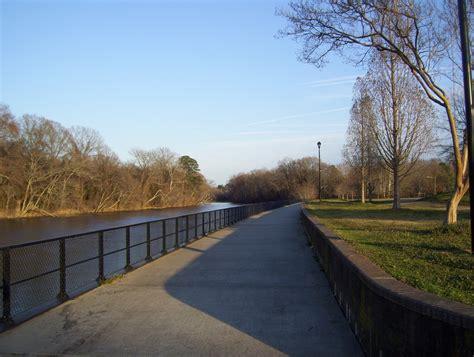 greenville nc tar river boardwalk  town commons park