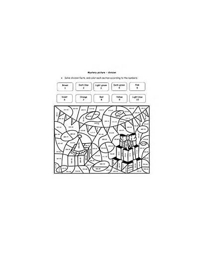 Division Worksheets Math Coloring Number Fun Grade
