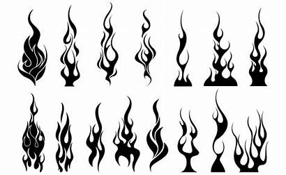 Flames Vector Tribal Skull Pack Vectors Flame