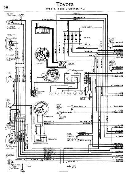 repair manuals toyota land cruiser 1965 67 wiring diagrams