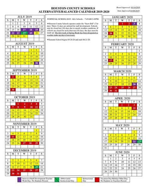 district calendar houston county high school