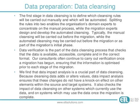 Preparing A Data Migration Plan