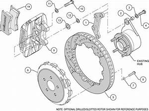 Wilwood Disc Brake Kit Subaru Saab Wrx Etc 13 U0026quot   12 U0026quot  Rotors