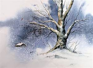 Winter Tree Painting by Sam Sidders
