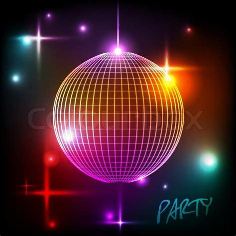 disco ball disco background stock vector colourbox