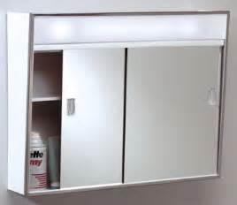 701l series sliding medicine cabinet 2 light with
