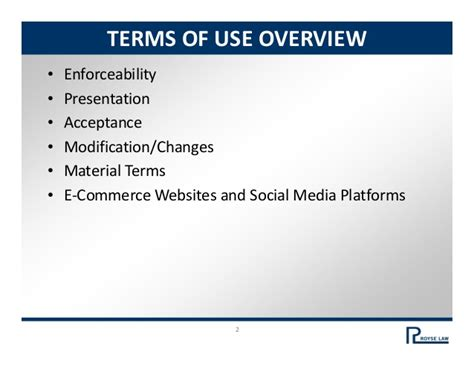 Best Practices Terms Of Use And Privacy Policies
