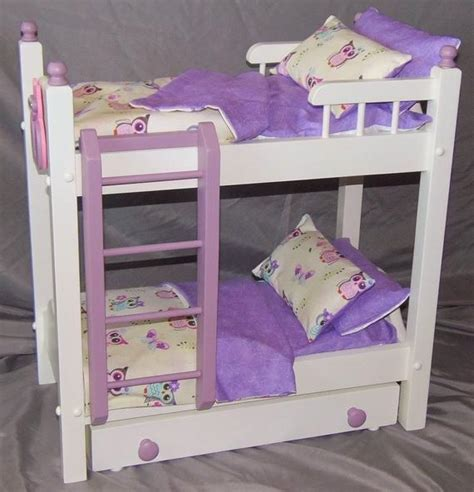 doll bunk bed  trundle bed perfect   american