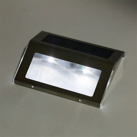 led solar power path stair outdoor light wall landscape