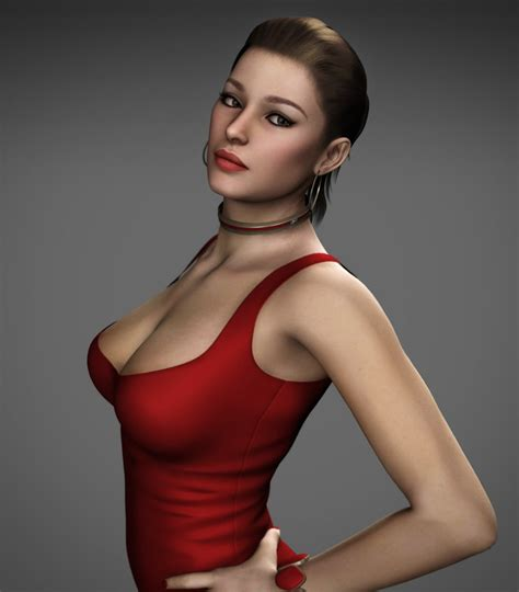 Denise - Red Dress by Torqual3D (Updated) by Curia-DD on ...