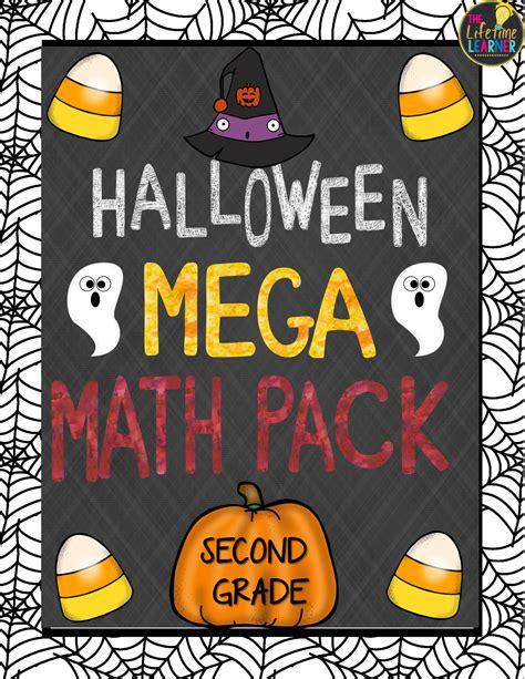 grade mega math halloween packet includes