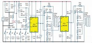 Signal Generator And Inverter Using Ne555 Timers