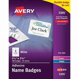 avery 5395 adhesive name badges the office dealer With avery 5395 labels