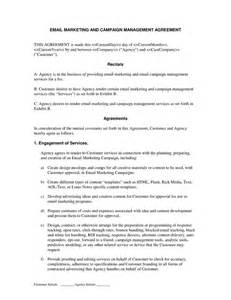 email marketing  campaign agreement contract template