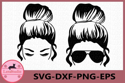 Beautiful things always begin ugly. Messy Bun svg, Girl with lashes Svg, Mom life svg (703831 ...