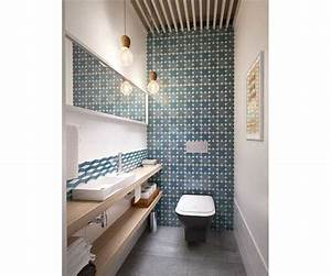 salle de bain avec carrelage mural en carreaux de ciment With carreaux de ciment mural