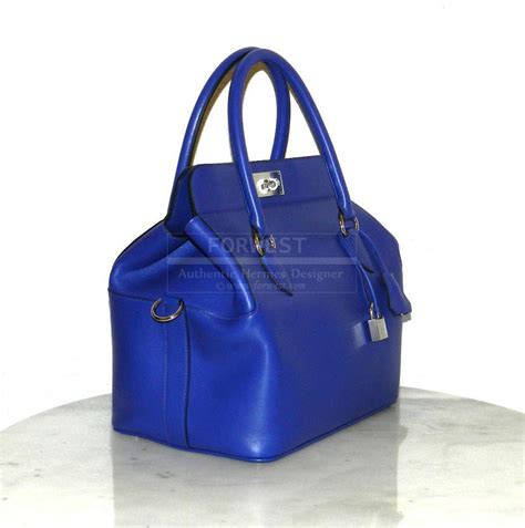 hw electric blue authentic hermes toolbox 26cm electric blue