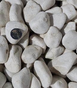 Galet Marbre Blanc : galet marbre blanc 40 60 roul mat riaux de finition et de d coration ~ Nature-et-papiers.com Idées de Décoration