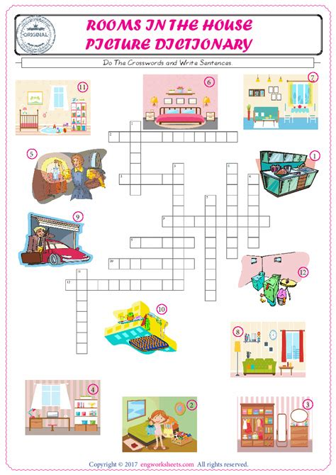 esl printable rooms   house english worksheets