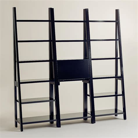 black lacquer josephine bookcase collection world market