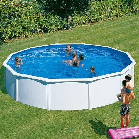 pool 5m durchmesser mypool pool komplettset feeling durchmesser 350 cm h 246 he 120 cm 11 000 l wei 223 bauhaus