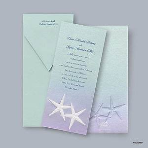 1000 images about themed starfish wedding on pinterest With disney beach wedding invitations