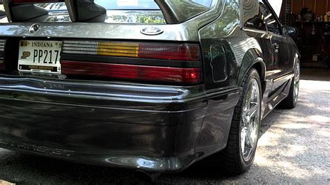 vortech supercharged  fox body mustang youtube