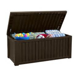 keter rockwood 150 gallon plastic deck box reviews wayfair