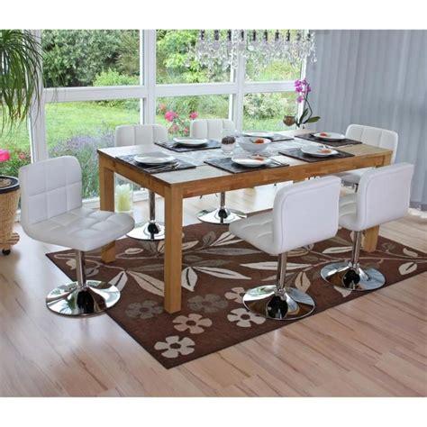 chaise pivotante pas cher lot de 6 chaises de salle à manger kavala pivotante pu blanc achat vente chaise salle a