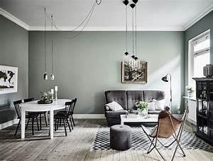 plus de 70 exemples deco pour adopter lindemodable vert With meuble de salle a manger avec tapis jaune scandinave