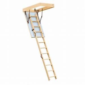 Escalier Escamotable Grenier : escalier escamotable isol pour grenier trappe 140x70cm ~ Melissatoandfro.com Idées de Décoration