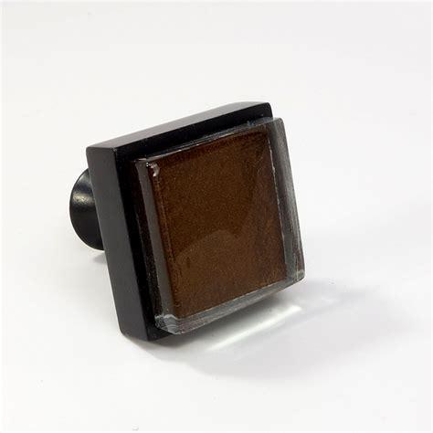 glass black metal square knob modern cabinet