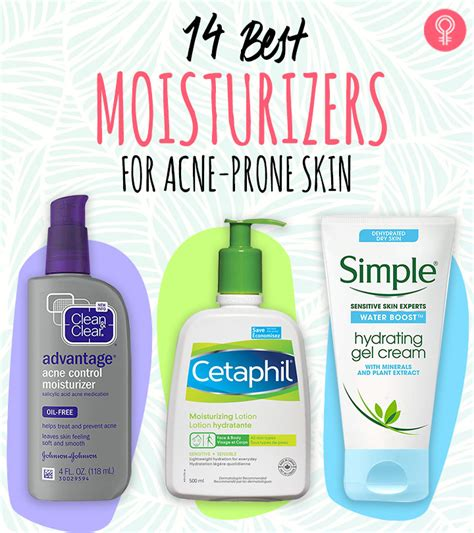 best moisturizer for skin 14 best moisturizers for acne prone skin