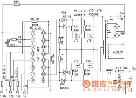 Tl494 Inverter Circuit by Gt Circuits Gt Using Tl494 Simple Inverter Circuit Diagram
