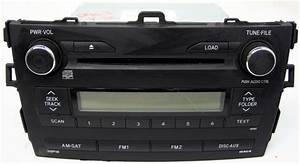 2009 2010 Toyota Corolla Factory Stereo 6 Disc Changer Mp3