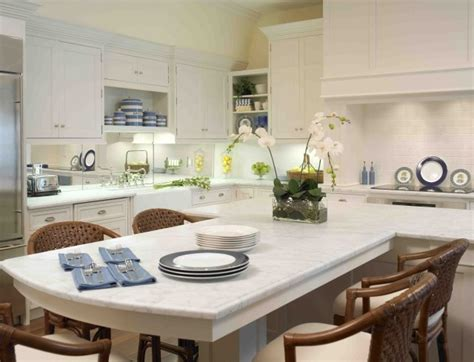 t shaped kitchen islands t shaped island white counter tops with an eat at bar