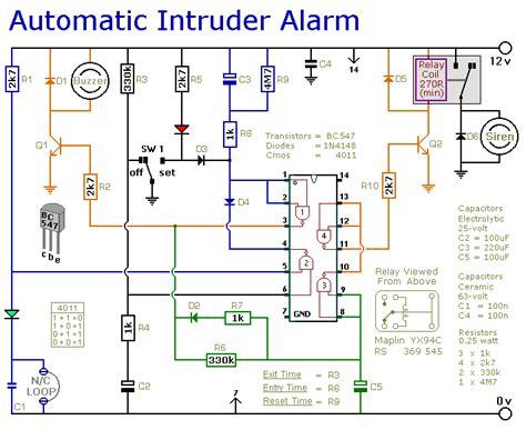 a burglar alarm circuit diagram