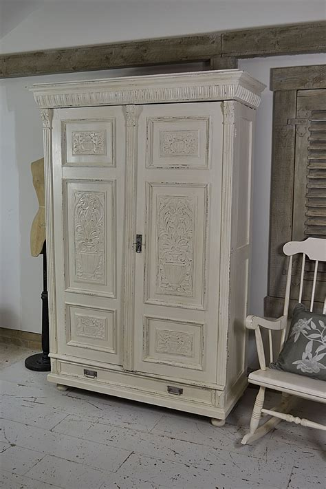 shabby chic pine wardrobe this shabby chic antique pine wardrobe from holland has stunning carved wood detail and plenty